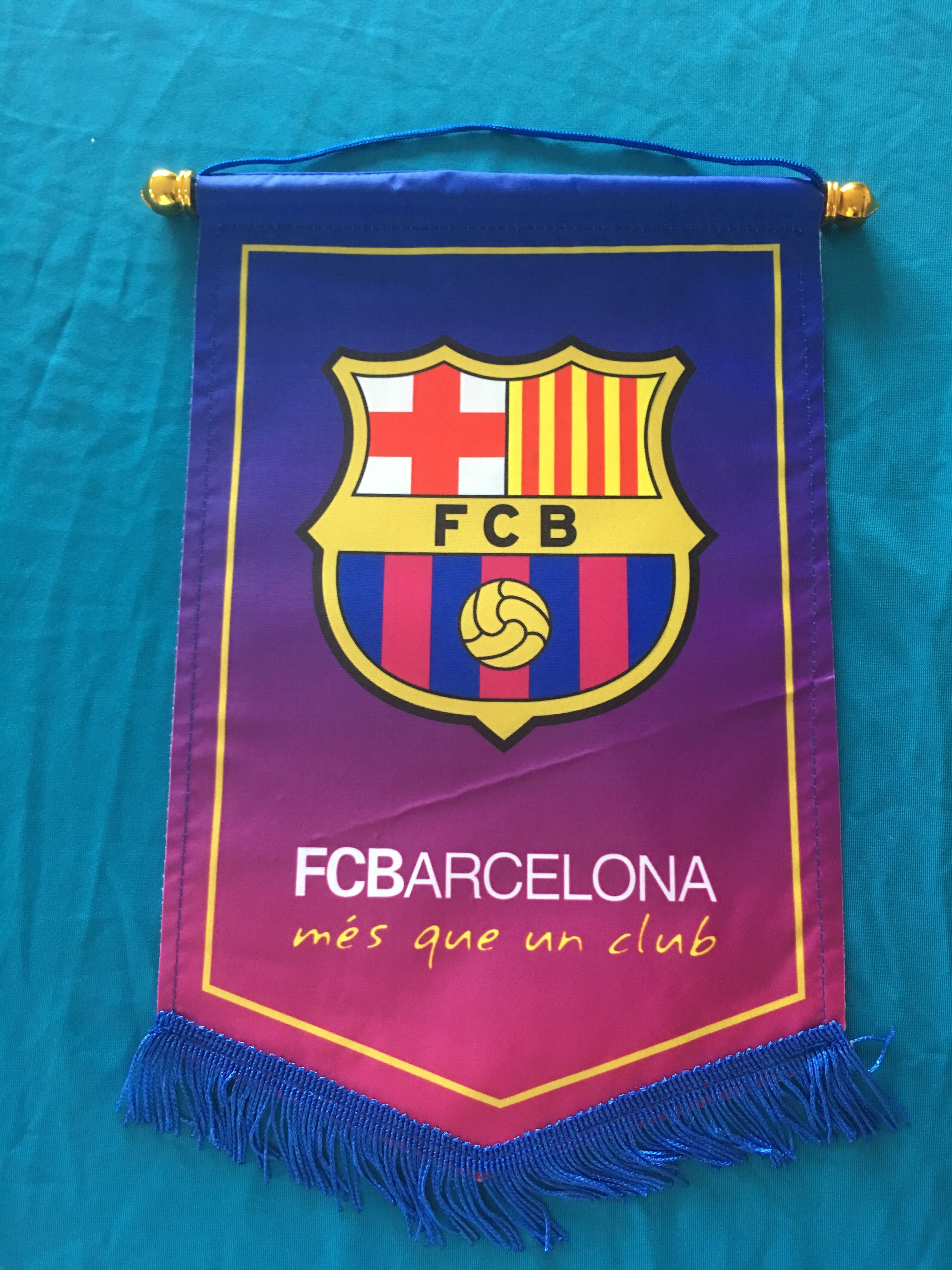 Barcelona Hang Flag Decor Football Fans Souvenir
