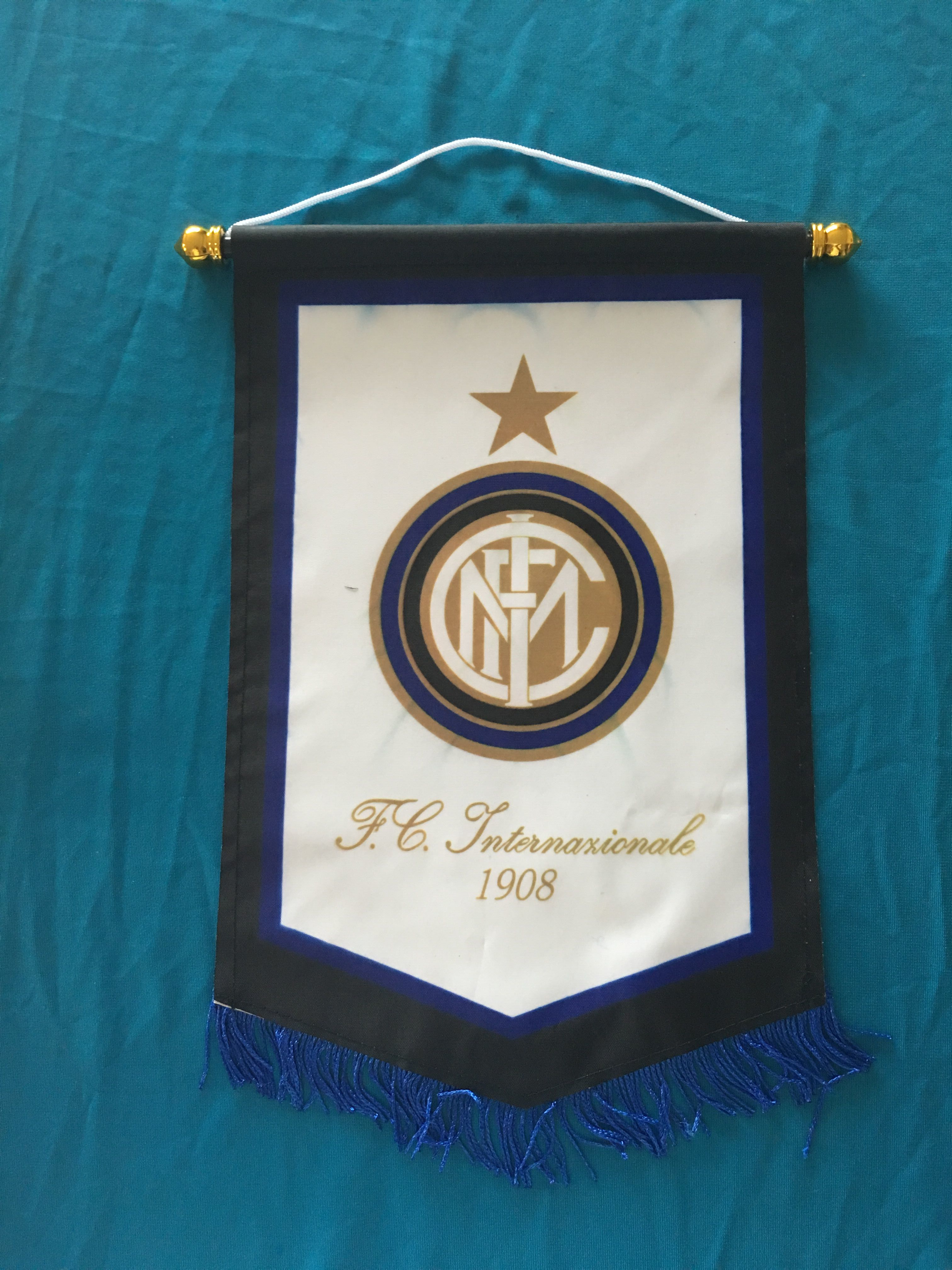 Inter Milan Hang Flag Decor Football Fans Souvenir