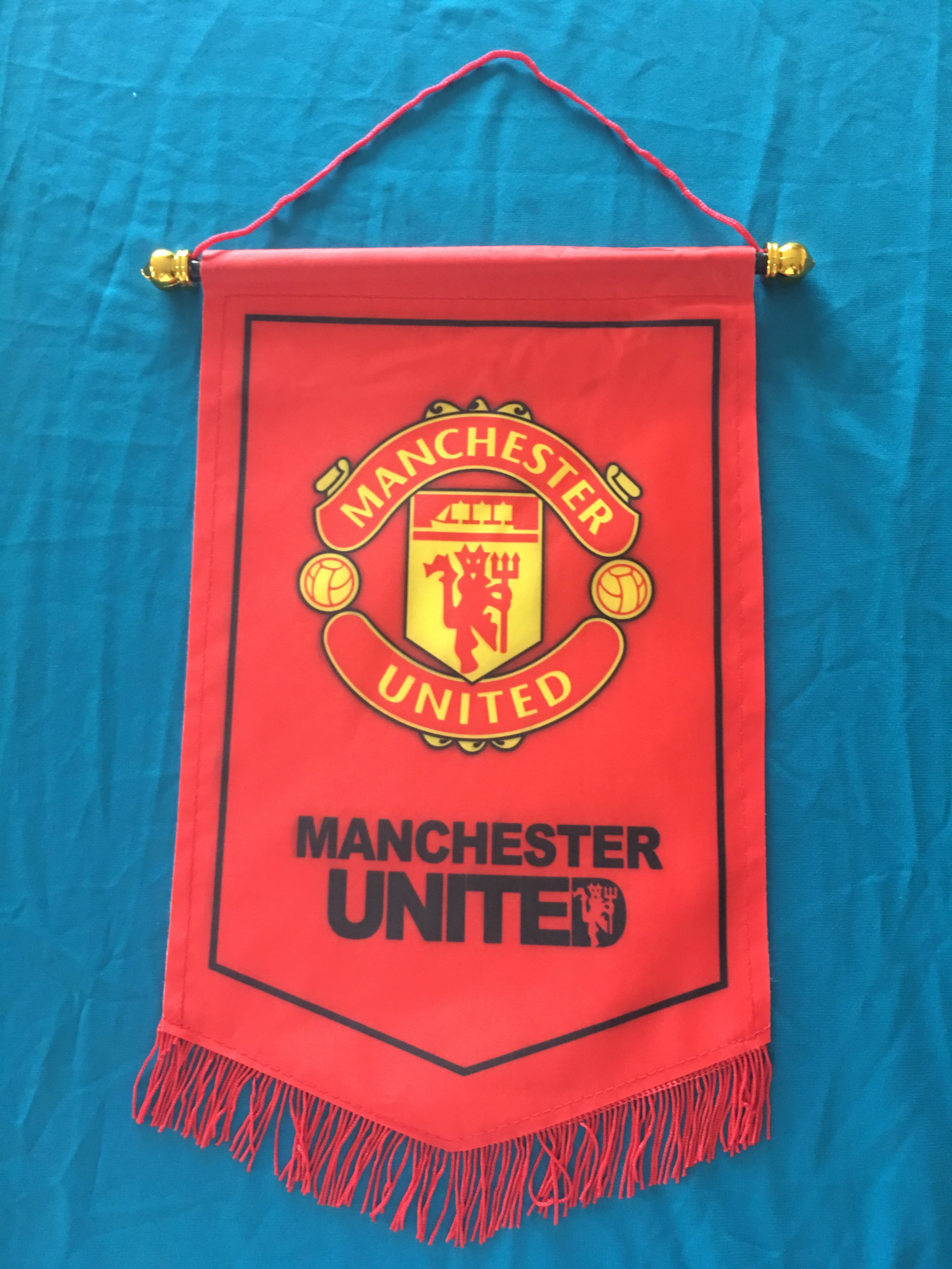 Manchester United Hang Flag Decor Football Fans Souvenir