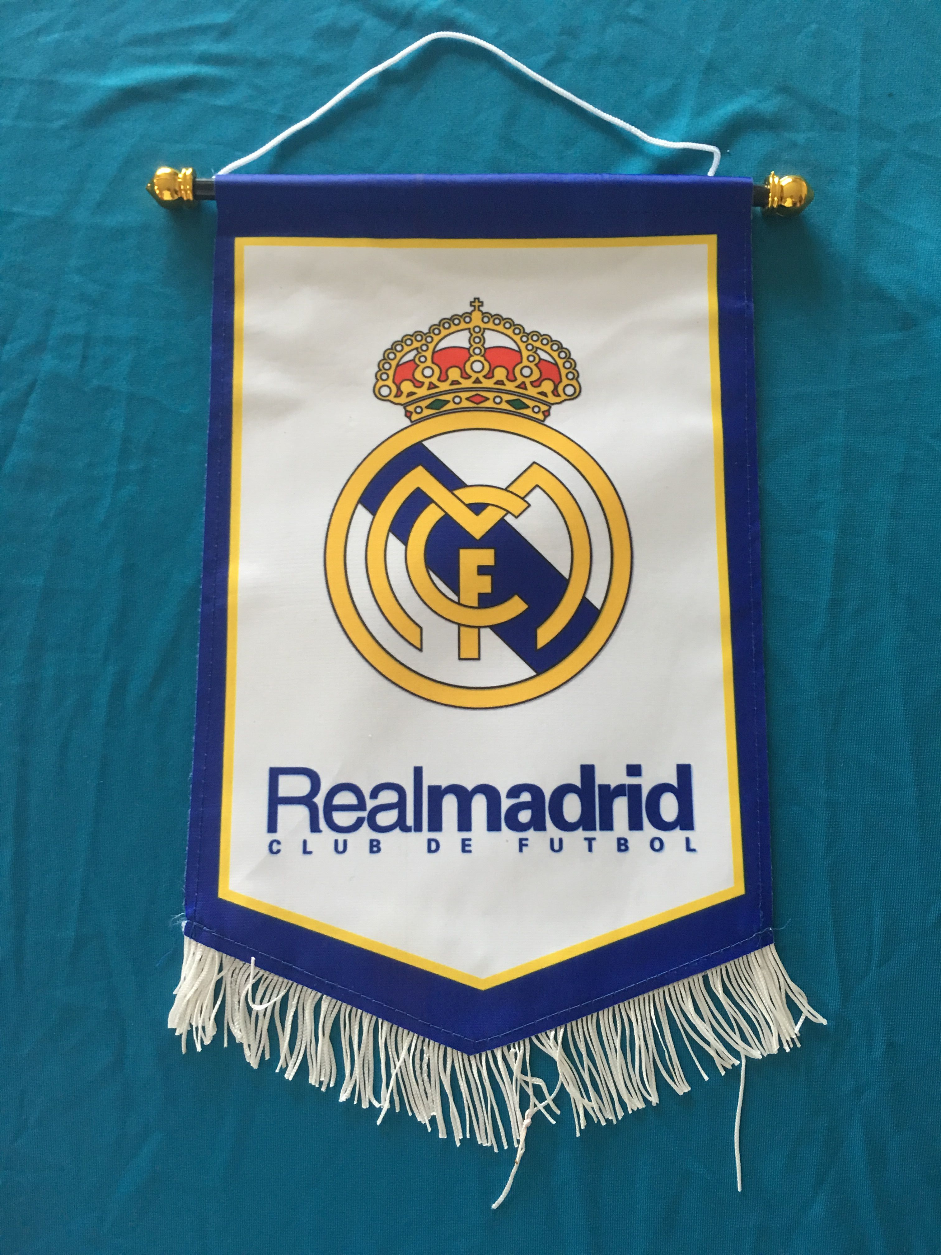 Real Madrid Hang Flag Decor Football Fans Souvenir