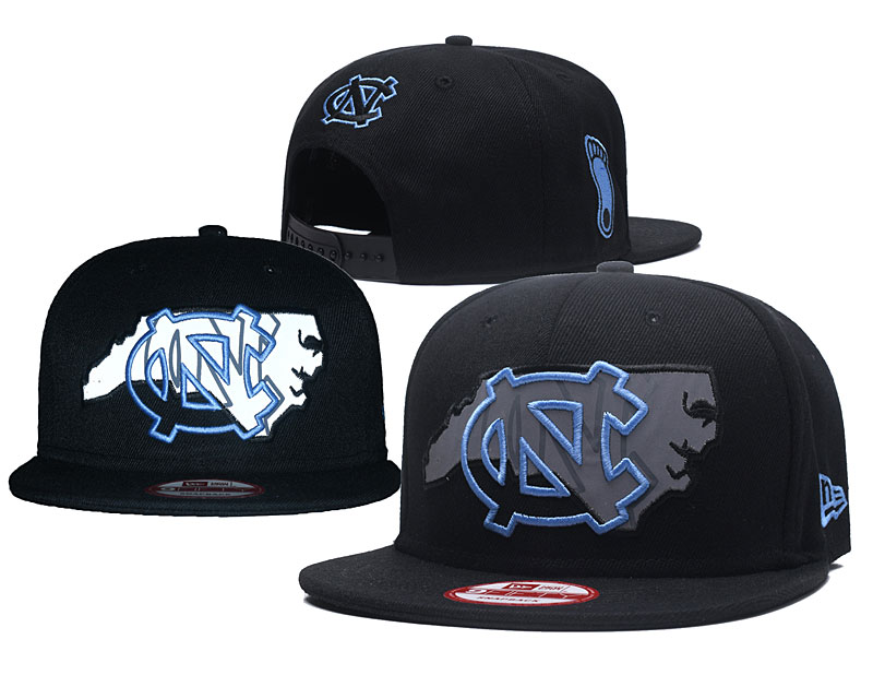 North Carolina Tar Heels Blue Logo Black Adjustable Hat GS