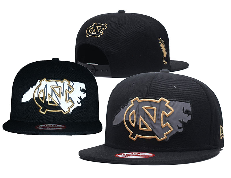 North Carolina Tar Heels Team Logo Black Adjustable Hat GS