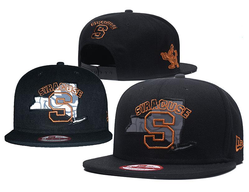 Syracuse Orange Team Logo Black Adjustable Hat GS