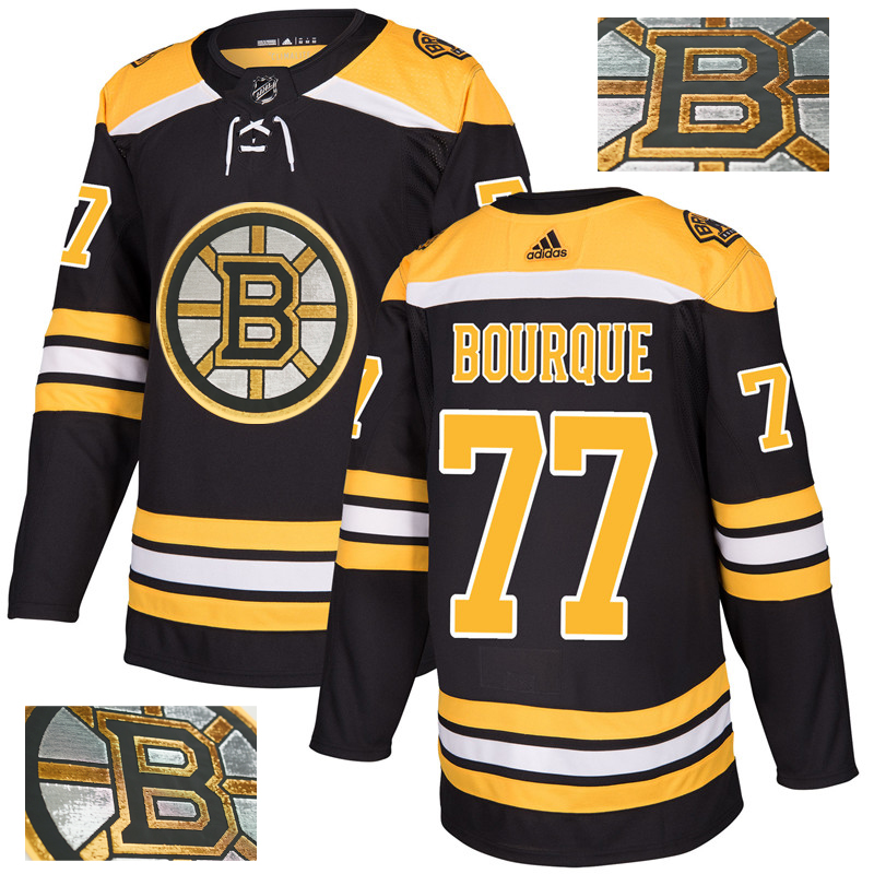 Bruins 77 Ray Bourque Black With Special Glittery Logo Adidas Jersey