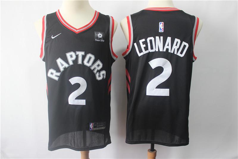 Raptors 2 Kawhi Leonard Black Nike Swingman Jersey