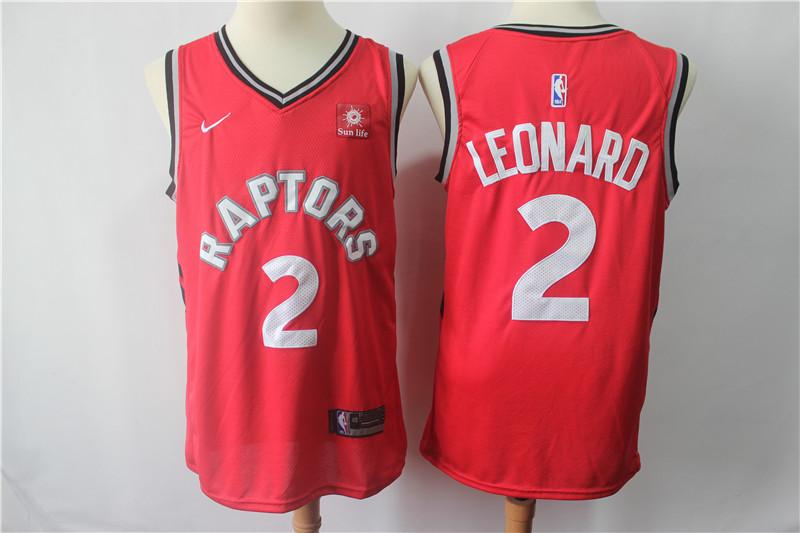 Raptors 2 Kawhi Leonard Red Nike Swingman Jersey