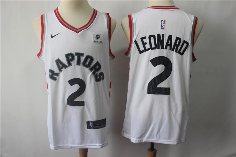Raptors 2 Kawhi Leonard White Nike Swingman Jersey