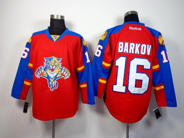 Panthers 16 Barkov Red Jerseys