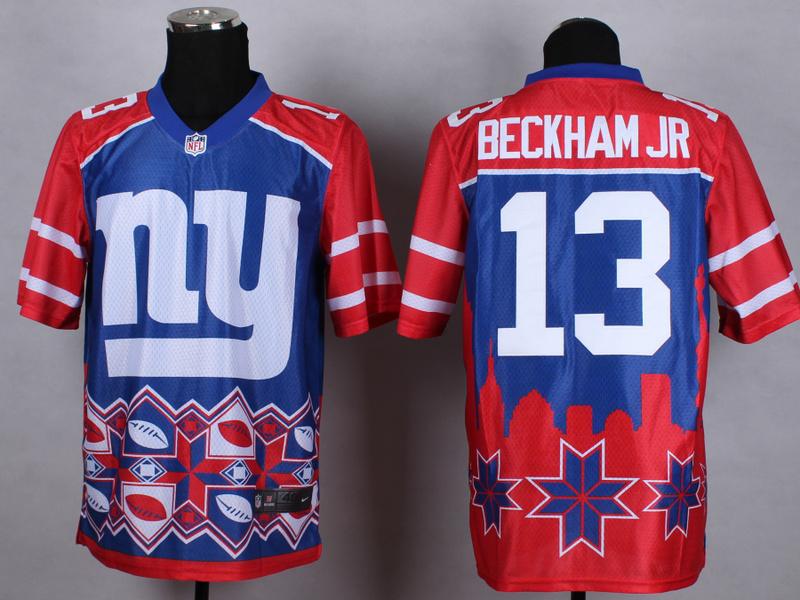 Nike Giants 13 Beckham Jr Noble Fashion Elite Jerseys