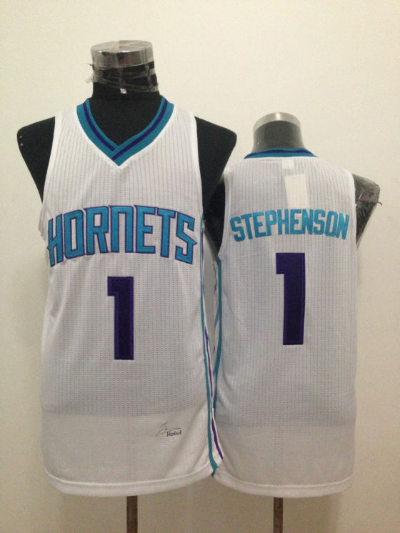 Hornets 1 Stephenson White New Revolution 30 Jerseys