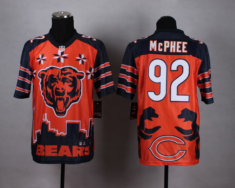 Nike Bears 92 McPhee Noble Fashion Elite Jerseys