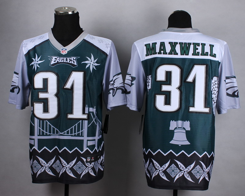 Nike Eagles 31 Maxwell Noble Fashion Elite Jerseys