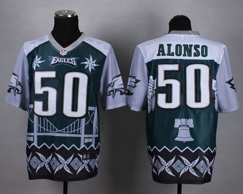 Nike Eagles 50 Alonso Noble Fashion Elite Jerseys
