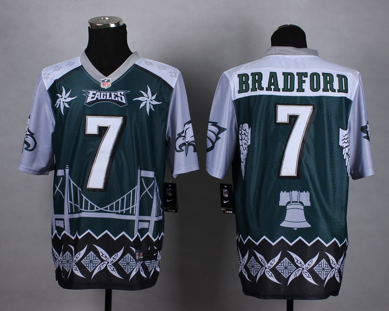 Nike Eagles 7 Bradford Noble Fashion Elite Jerseys