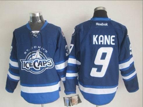 St. John's IceCaps 9 Kane Blue Reebok Jerse