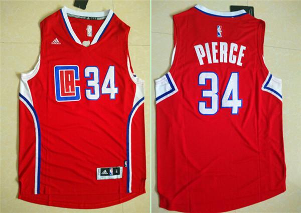 Clippers 34 Paul Pierce Red 2015 Swingman Jersey
