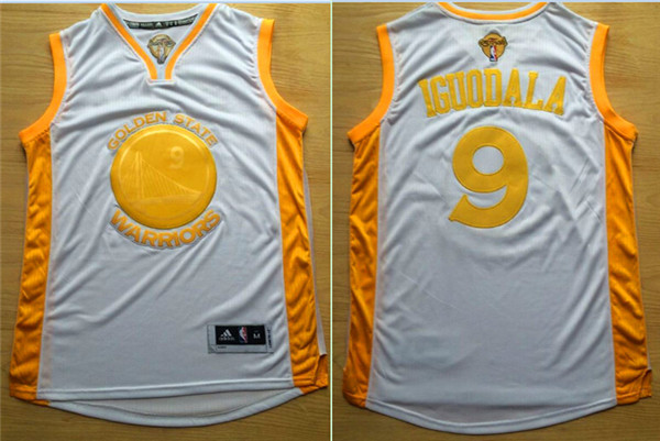 Warriors 9 Andre Iguodala White 2015 NBA Champions Jersey