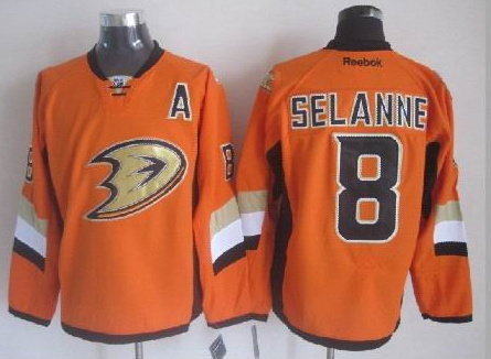 Ducks 8 Selanne Orange 2014 Stadium Series Jerseys