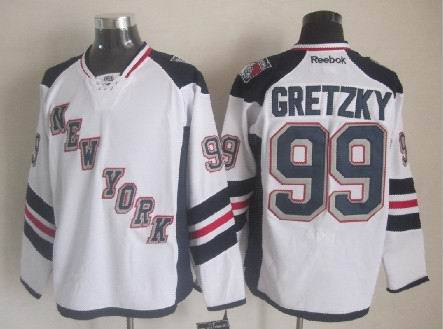 Rangers 99 Gretzky White 2014 Stadium Series Jerseys