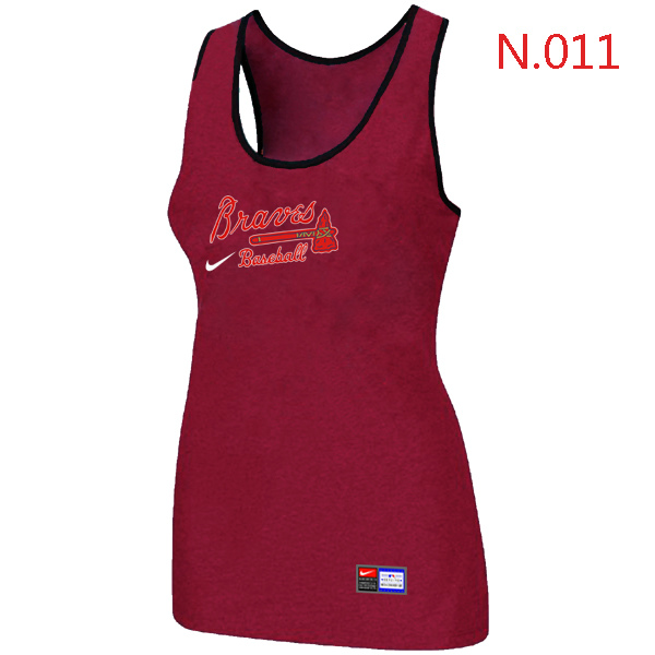 Nike Atlanta Braves Tri Blend Racerback Stretch Tank Top Red