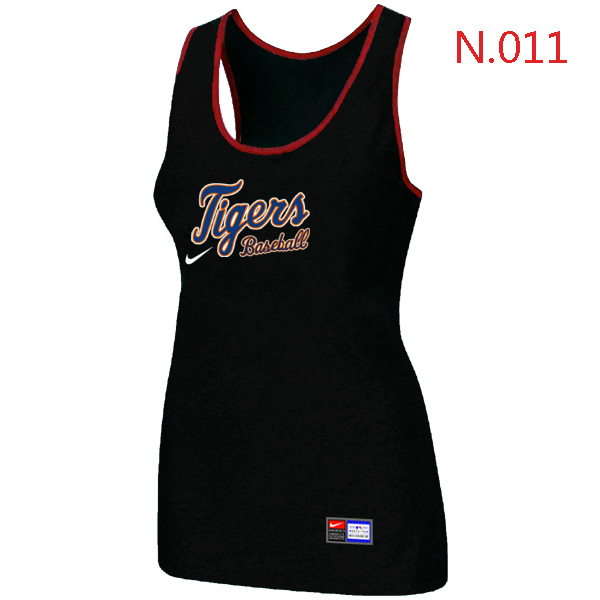 Nike Detroit Tigers Tri Blend Racerback Stretch Tank Top Black