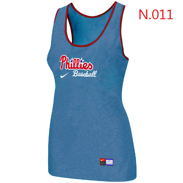 Nike Philadelphia Phillies Tri Blend Racerback Stretch Tank Top L.Blue