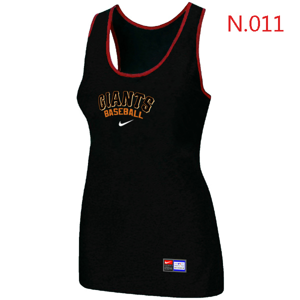 Nike San Francisco Giants Tri Blend Racerback Stretch Tank Top Black