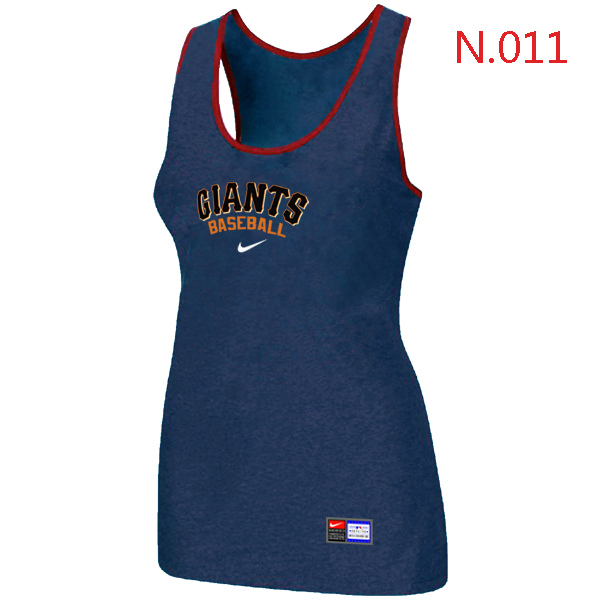 Nike San Francisco Giants Tri Blend Racerback Stretch Tank Top Blue