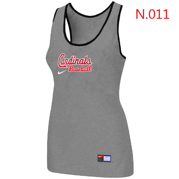 Nike St.Louis Cardinals Tri Blend Racerback Stretch Tank Top L.grey