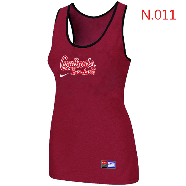 Nike St.Louis Cardinals Tri Blend Racerback Stretch Tank Top Red