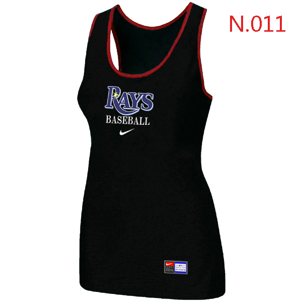 Nike Tampa Bay Rays Tri Blend Racerback Stretch Tank Top Black
