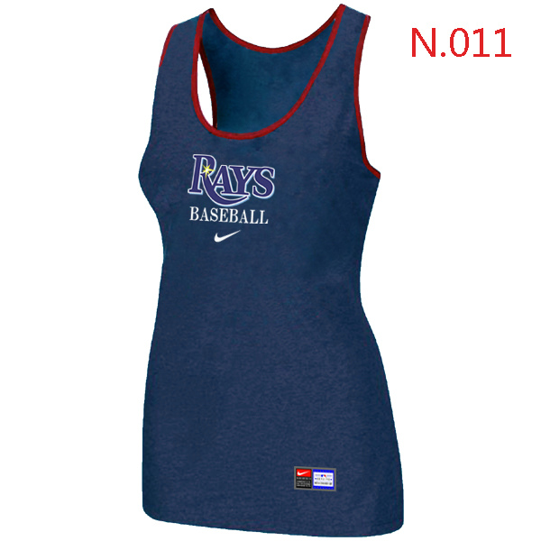 Nike Tampa Bay Rays Tri Blend Racerback Stretch Tank Top Blue