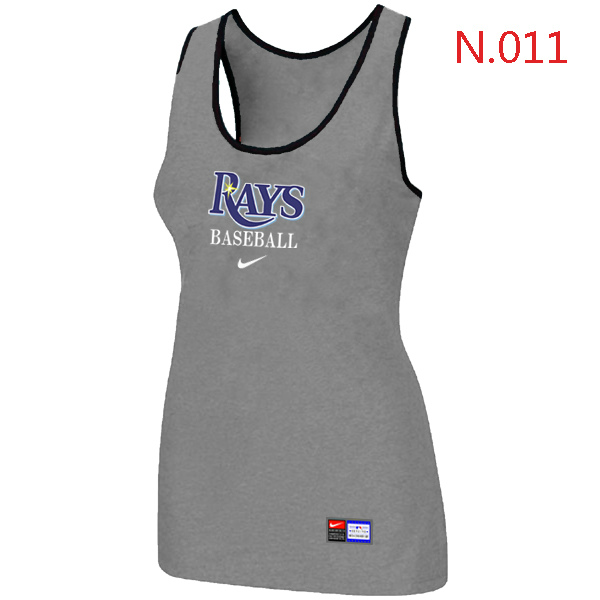 Nike Tampa Bay Rays Tri Blend Racerback Stretch Tank Top L.grey