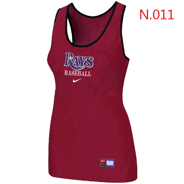 Nike Tampa Bay Rays Tri Blend Racerback Stretch Tank Top Red