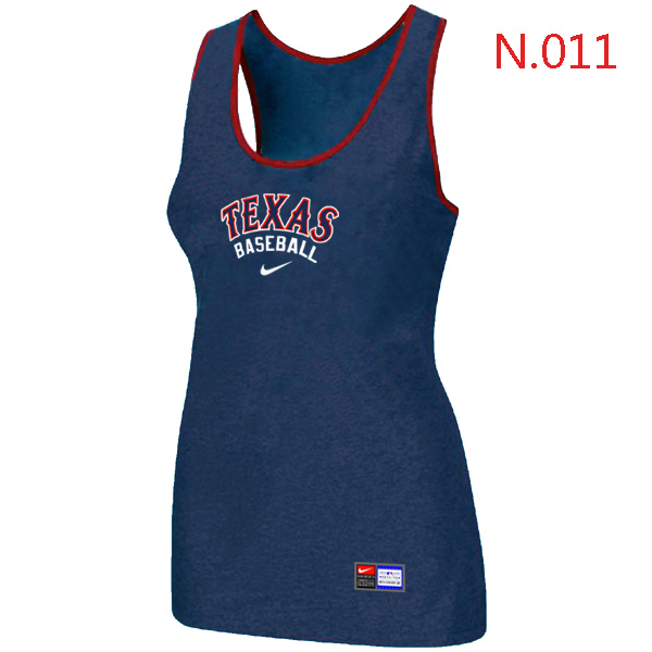 Nike Texans Rangers Tri Blend Racerback Stretch Tank Top Blue