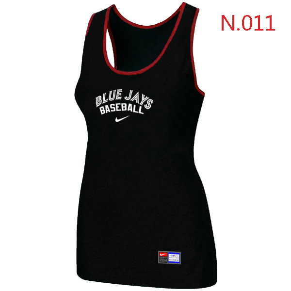 Nike Toronto Blue Jays Tri Blend Racerback Stretch Tank Top Black