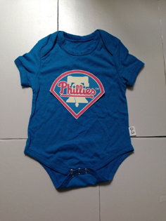 Phillies Baby Blue Toddler T-shirts