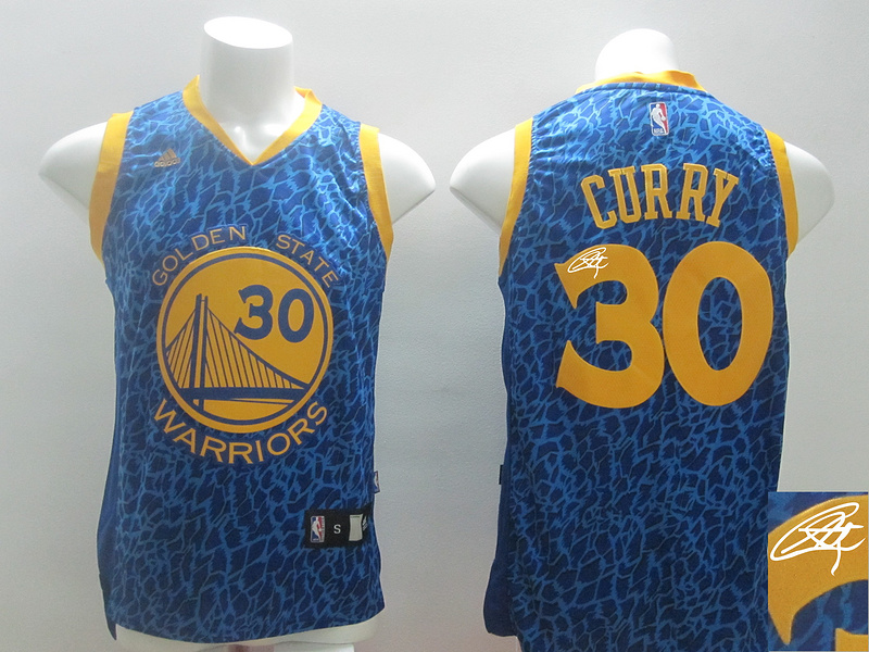 Warriors 30 Curry Blue Crazy Light Signature Edition Jerseys