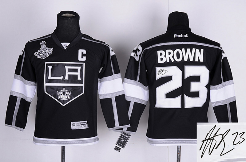 Kings 23 Brown Black Signature Edition Youth Jerseys