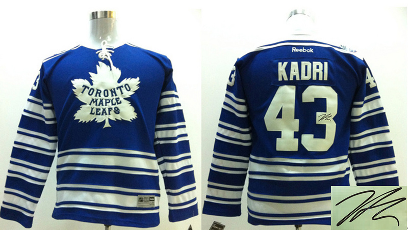 Maple Leafs 43 Kadri Blue Signature Edition Youth Jerseys