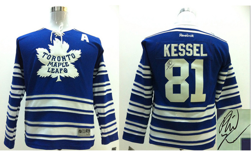Maple Leafs 81 Kessel Blue Signature Edition Youth Jerseys