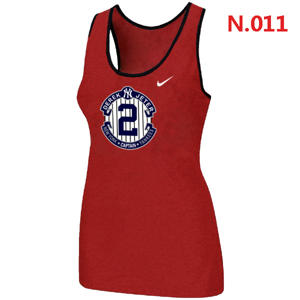 Nike Derek Jeter New York Yankees Final Season Commemorative Logo stretch Tank Top Red