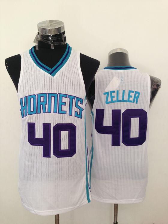 Hornets 40 Zeller White New Revolution 30 Jerseys