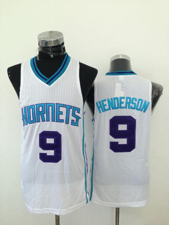 Hornets 9 Henderson White New Revolution 30 Jerseys
