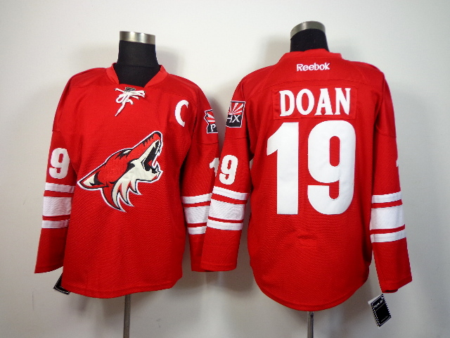 Coyotes 19 Doan Red New Jerseys