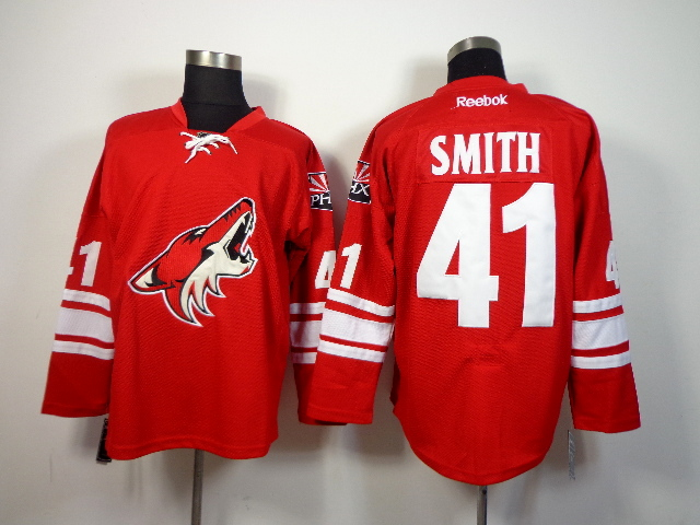 Coyotes 41 Smith Red New Jerseys