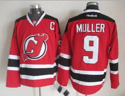 Devils 9 Muller Red Jerseys