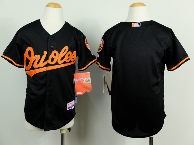 Orioles Black Youth Jersey
