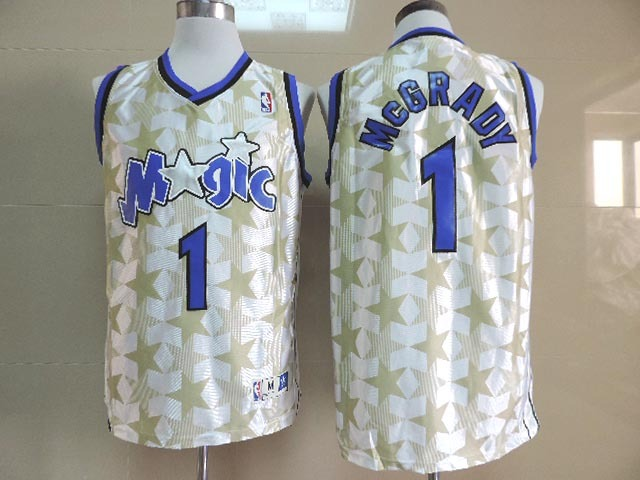 Magic 1 McGrady White New Revolution 30 Throwback Jerseys