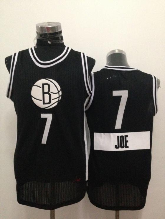Nets 7 Joe Johnson Black 2014-15 Christmas Day Swingman Jerseys